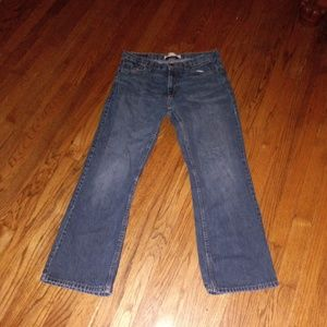Levi 527 blue bootcut jeans